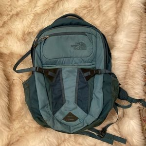 Green northface backpack